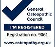 Osteopath Oliver Hicks General osteopathic council registration number