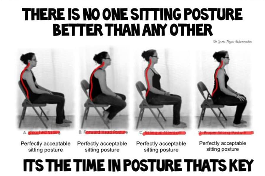 Image to demonstrate that there os no such thing as bad posture